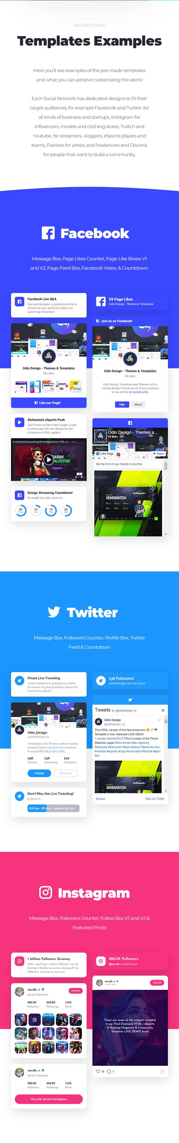 Asgard - Social Media Alerts & Feeds WordPress Builder - Facebook, Instagram, Twitch and more! - 12