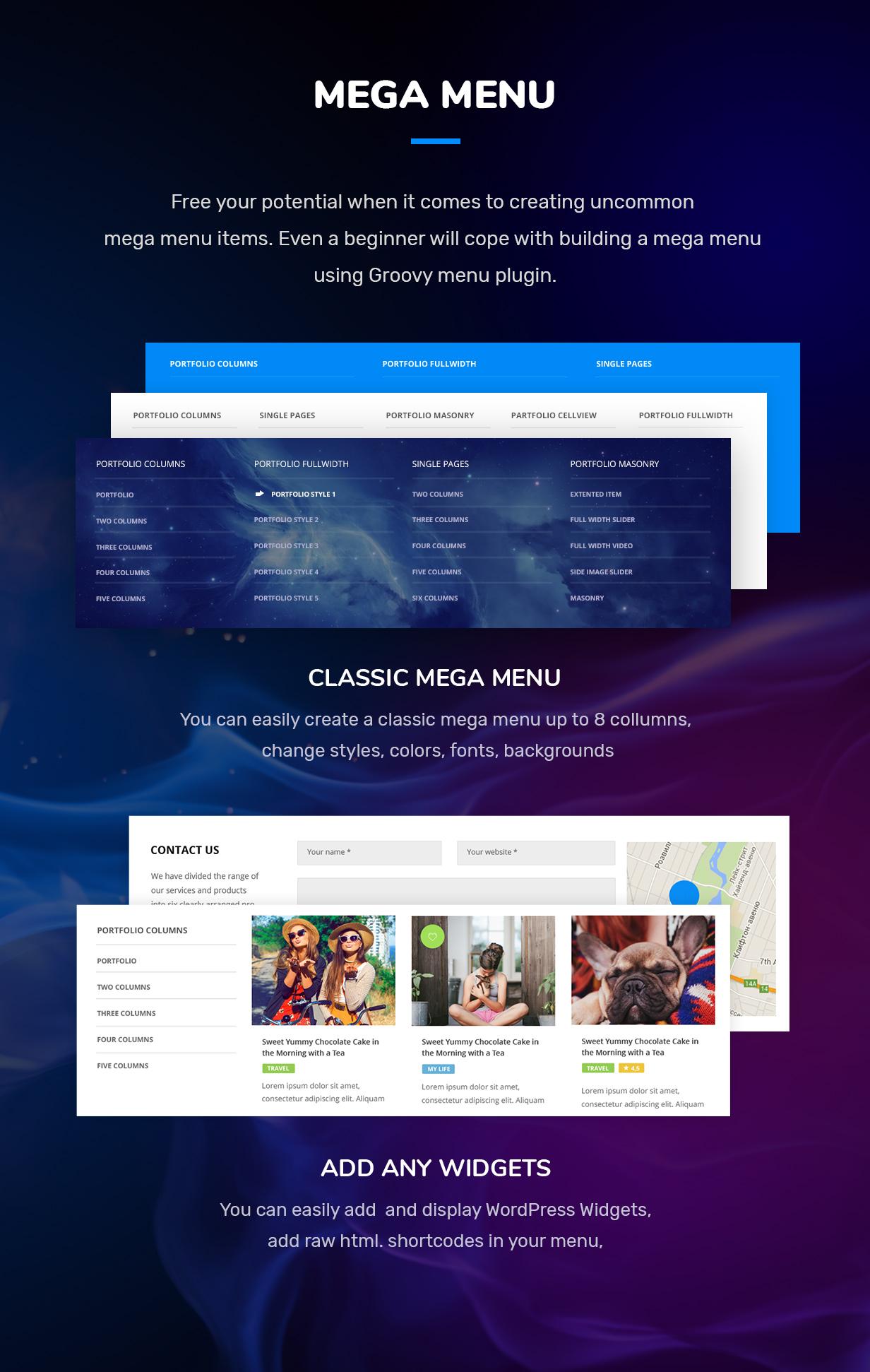 wordpress mega menu plugin