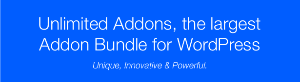 Unlimited Addons for WordPress - 5