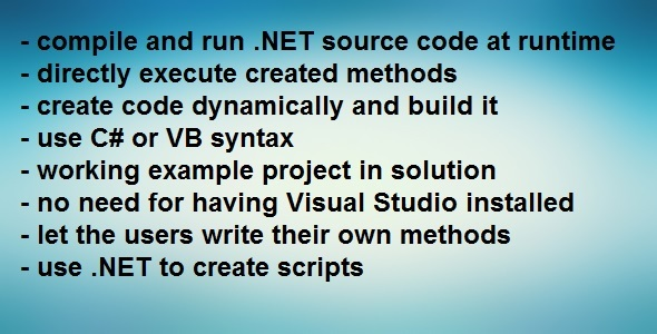 Photo of Get .NET Compiler – Compile code at runtime Download