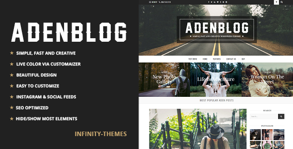 Photo of Get Aden – A WordPress Blog Theme Download