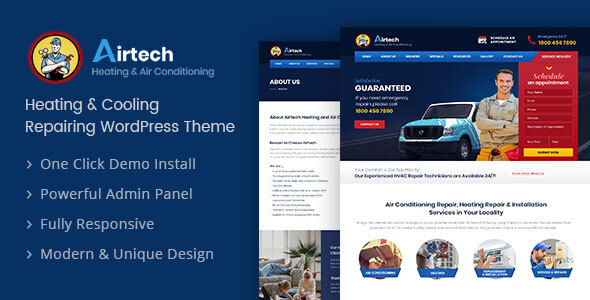 Photo of Get Airtech – Plumber WordPress theme Download