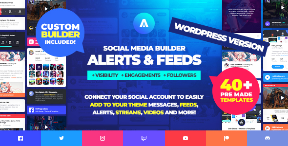 Photo of Get Asgard – Social Media Alerts & Feeds WordPress Builder – Facebook, Instagram, Twitch and more! Download