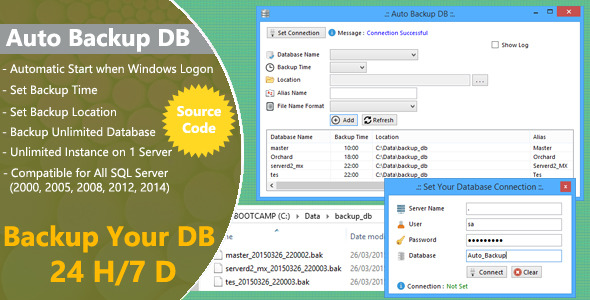 Auto Backup DB for SQL Server with Source Code