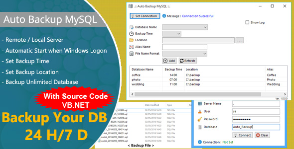 Photo of Get Auto Backup MySQL with VB.Net Source Code Download