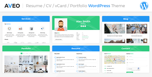 Photo of Get Aveo | CV, Resume Theme Download