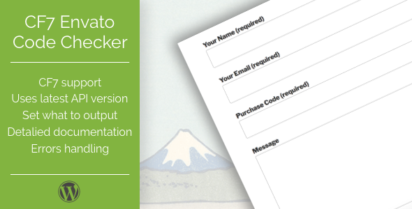 Photo of Get CF7 Envato Purchase Code Checker Download