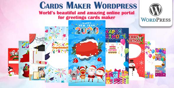 Photo of Get Cards Maker Wordpress Download