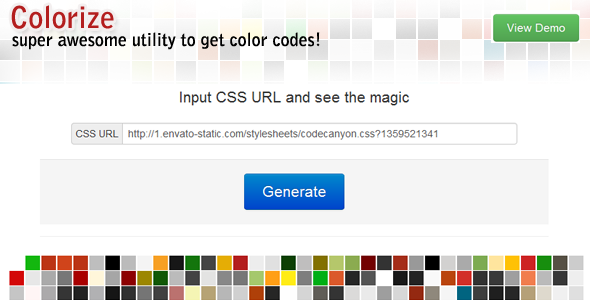 Colorize - URL to Color codes Extractor