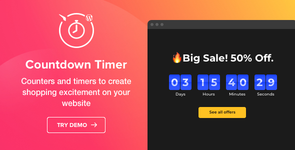 Photo of Get Countdown Timer – WordPress Countdown Timer plugin Download