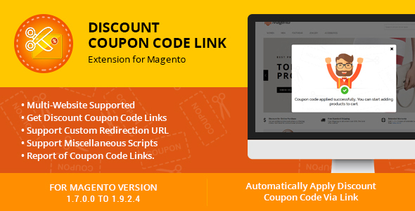 Photo of Get Discount Coupon Code Link Extension for Magento Download