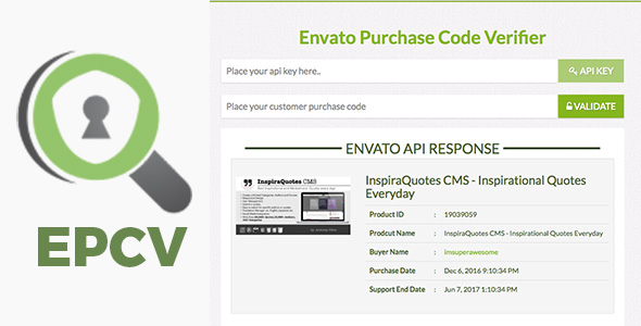 Photo of Get EPCV – Envato Purchase Code Verifier Download
