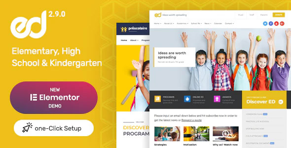 Photo of Get Ed School: Education WordPress Theme Download