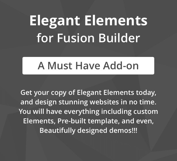 Elegant Elements for Fusion Builder and Avada - 1