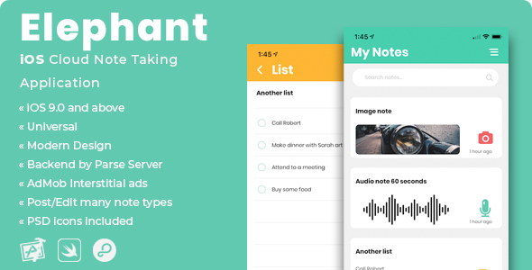 Photo of Get Elephant | iOS Cloud Note Taking Application Download