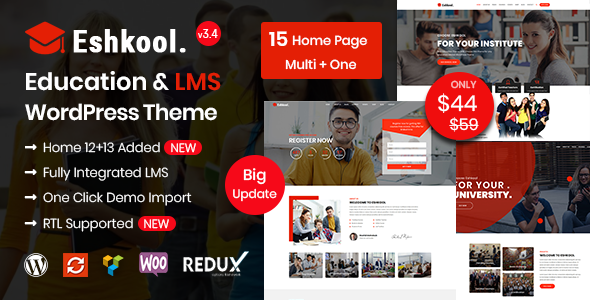 Photo of Get Eshkool – Education WordPress Theme Download