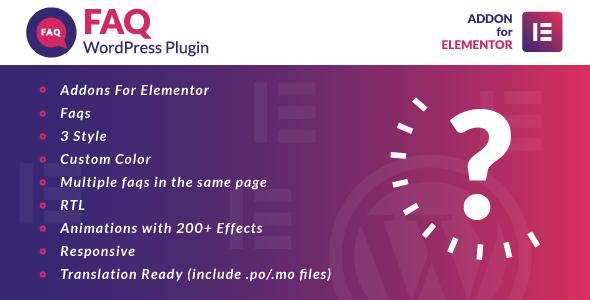 Photo of Get Faq for Elementor WordPress Plugin Download