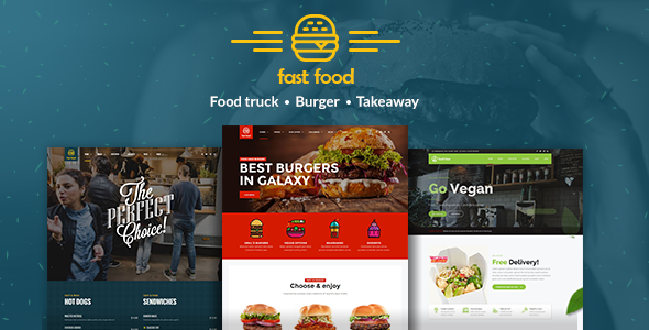 Photo of Get Fast Food WordPress Theme Download