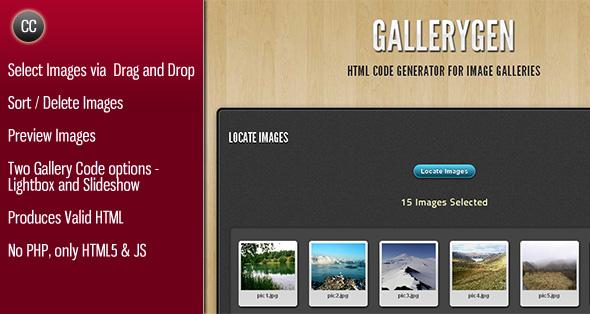 Photo of Get GalleryGen – Image Gallery HTML Code Generator Download