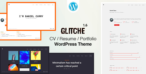 Photo of Get Glitche | CV/Resume Theme Download