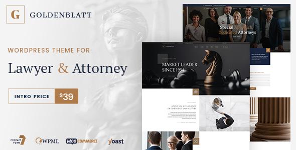 Photo of Get Goldenblatt – WordPress Theme for Lawyer & Attorney Download