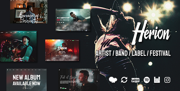 Photo of Get Herion – A WordPress Theme for the Music Industry Download