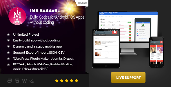 Photo of Get IMABuildeRz v1 – Universal AppBuilder for Cordova/Phonegap/Ionic v1 Download