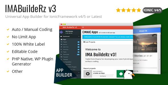 Photo of Get IMABuildeRz v3 – Universal AppBuilder for Ionic v4 Download