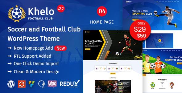 Photo of Get Khelo – Soccer WordPress Theme Download