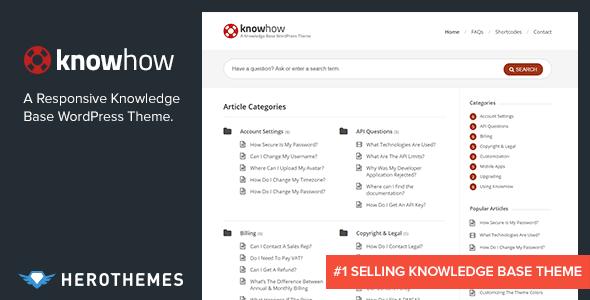 Photo of Get KnowHow – A Knowledge Base WordPress Theme Download