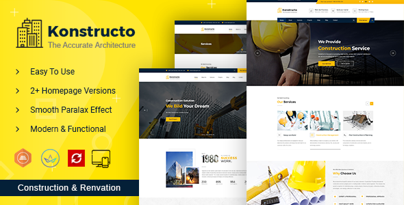 Photo of Get Konstructo – Construction and Architecture WordPress Theme Download