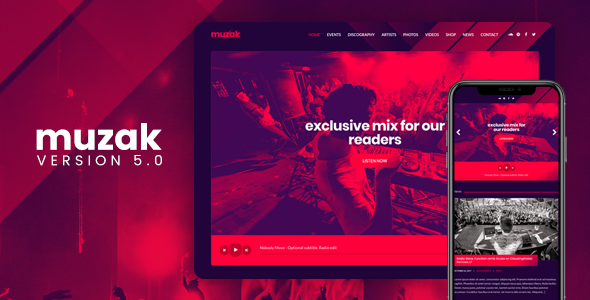 Photo of Get Muzak – Music WordPress theme Download