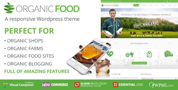 Photo of Get OrganicFood | Responsive WordPress Theme Download