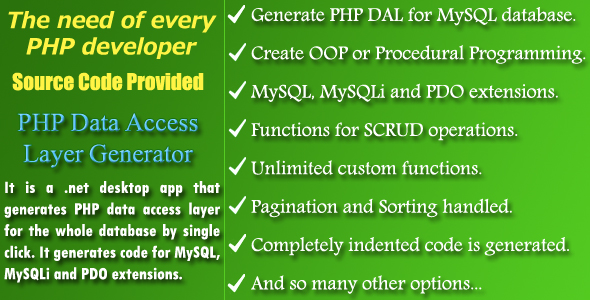 Photo of Get PHP DAL Generator – Source Code Download