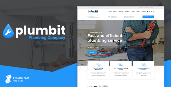 Photo of Get Plumbit – Plumbing WordPress Theme Download