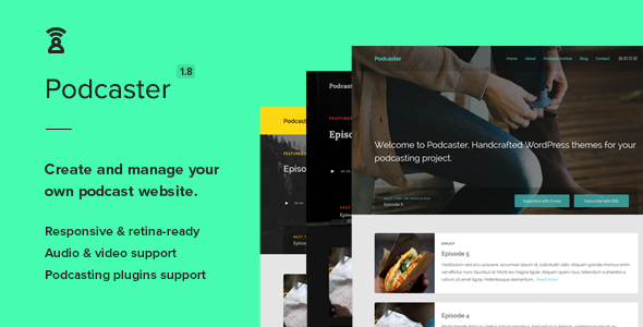 Photo of Get Podcaster – Multimedia WordPress Theme Download