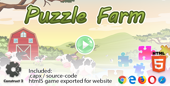 Photo of Get Puzzle Farm – Construct 2 Source Code and HTML5 Files for your Site Download