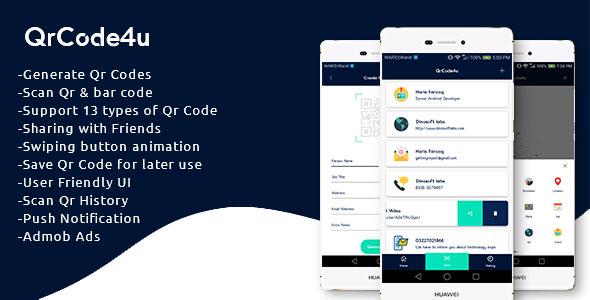Photo of Get QrCode4u – Qr Code Generator + Scanner + Barcode Reader Download