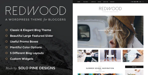 Photo of Get Redwood – A Responsive WordPress Blog Theme Download