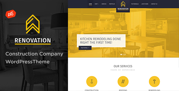 Photo of Get Renovation – Construction Company Theme Download