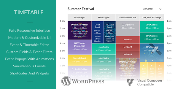 Photo of Get Responsive Timetable for Wordpress Download