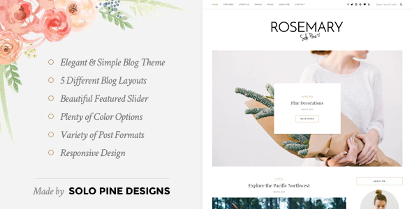Photo of Get Rosemary – A Responsive WordPress Blog Theme Download