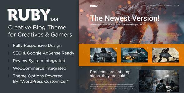Photo of Get Ruby Theme – A Creative WordPress Blog Theme Download