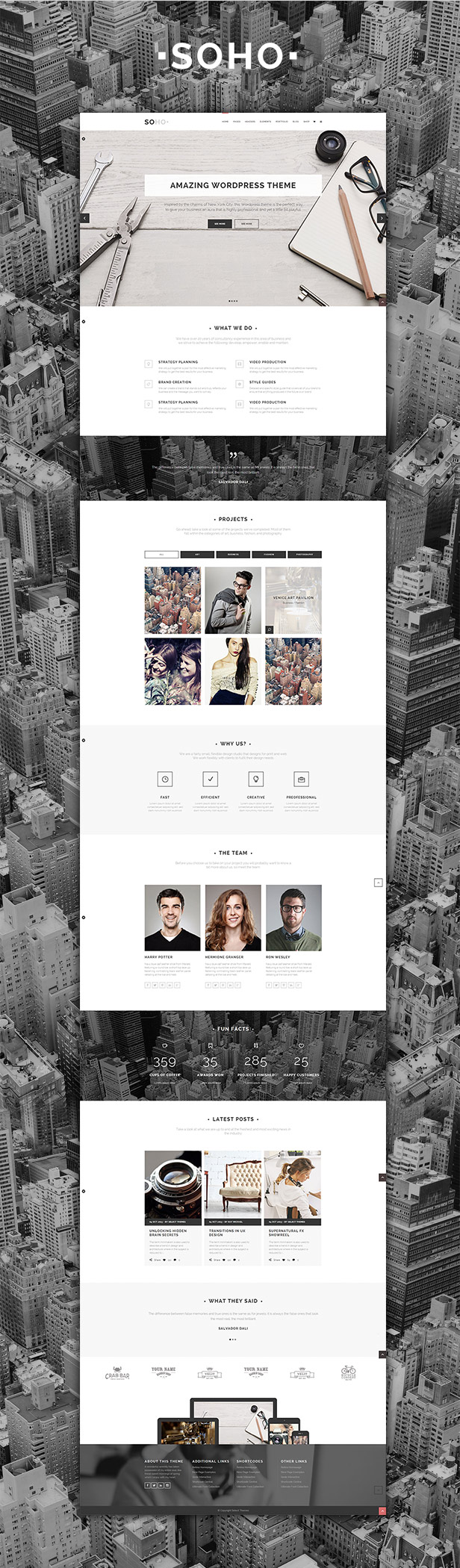 Soho - Clean Multi-Purpose WordPress Theme - 1
