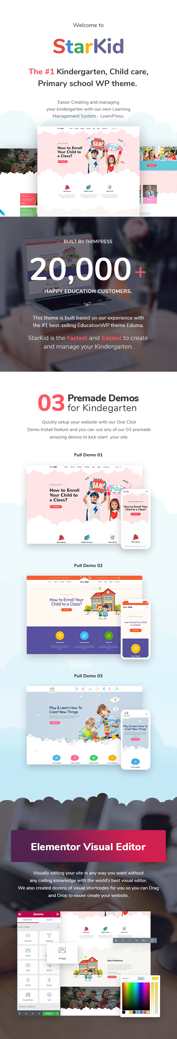 StarKid | Kindergarten WordPress Theme - 1