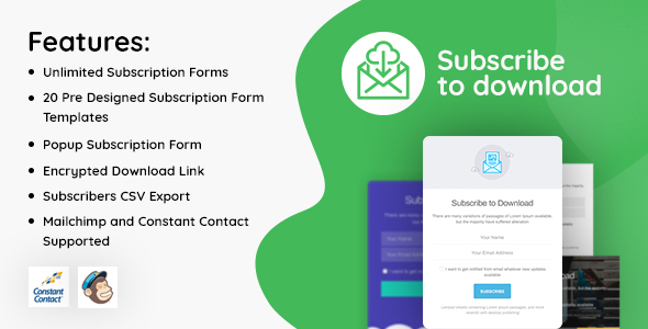 Photo of Get Subscribe to Download – An advanced subscription plugin for WordPress Download