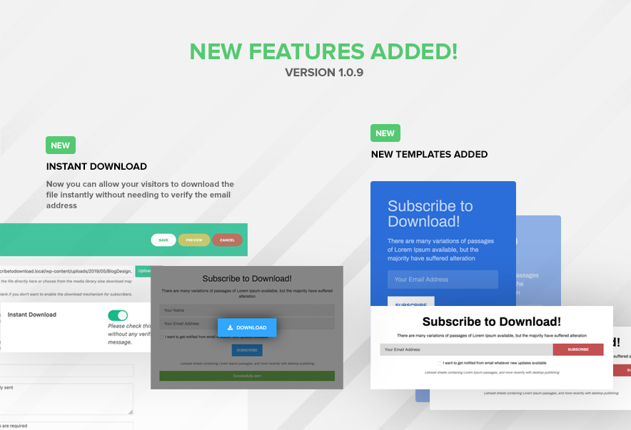 Subscribe to Download - An advanced subscription plugin for WordPress - 5