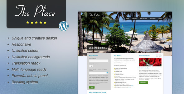 Photo of Get The Place – Hotel WordPress Theme Download