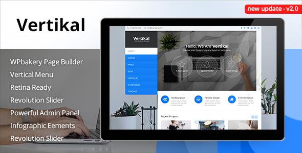 Photo of Get Vertikal   Responsive WordPress Theme Download