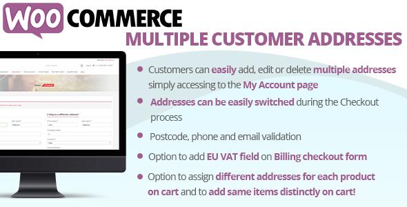 Photo of Get WooCommerce Multiple Customer Addresses Download